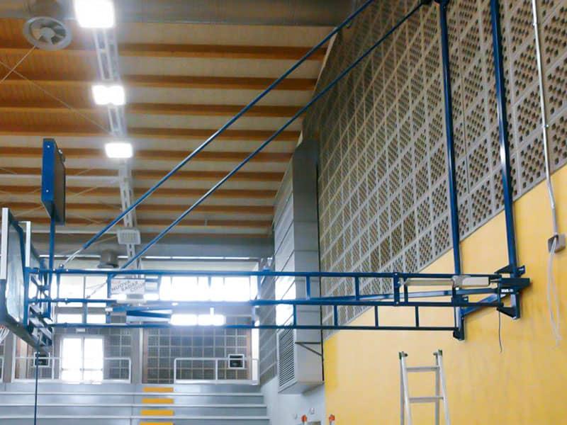 Impianto automazione canestri Basket