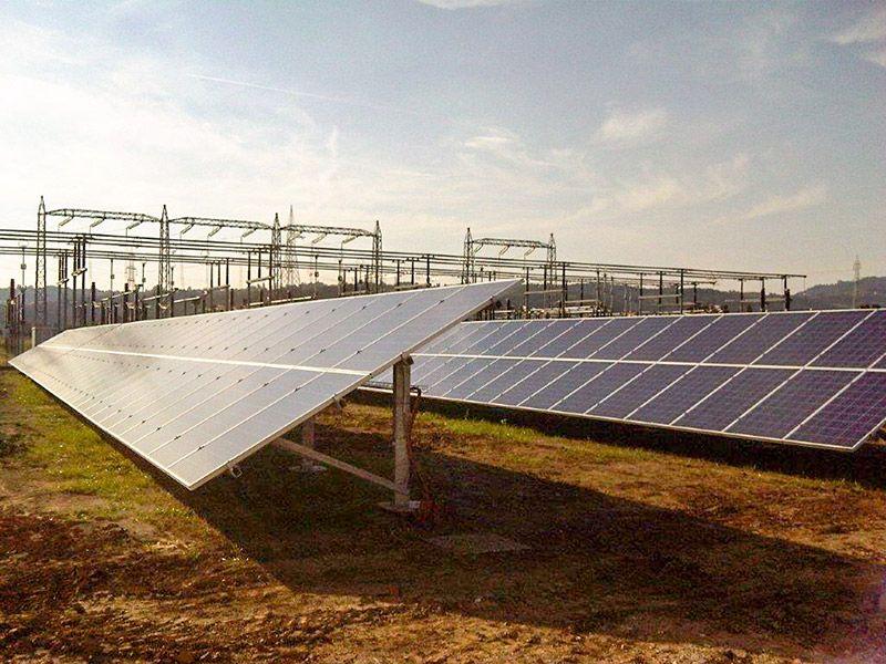 Particolare Impianto Fotovoltaico 800 kWp Monteviale (VI)
