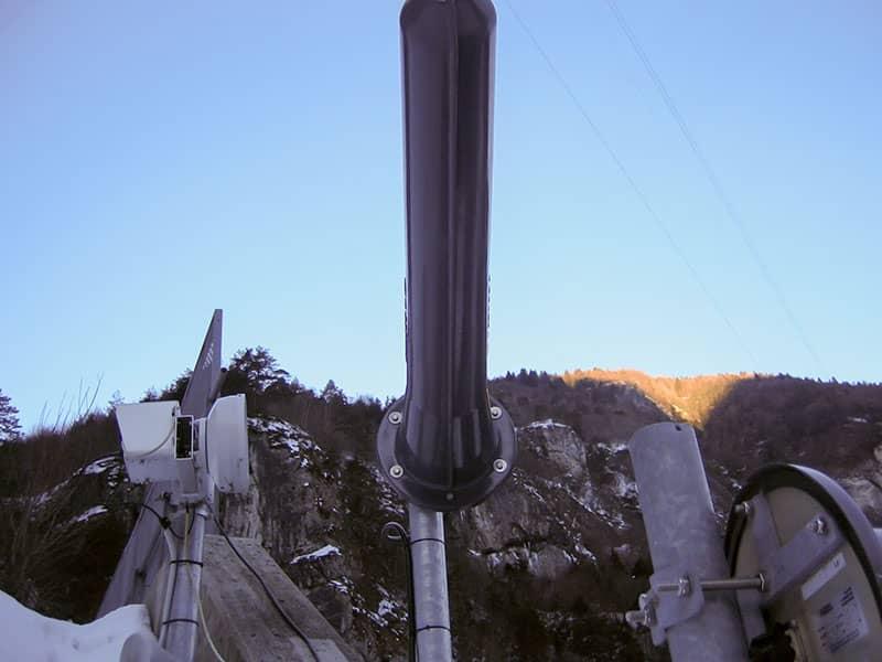Particolare antenne Wind Galleria Col di Caralte